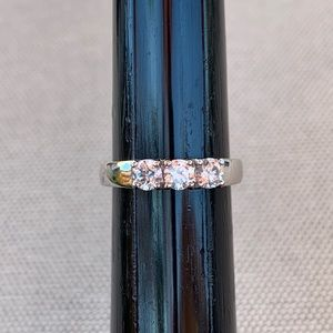 Ross Simons Sterling and CZ classic wedding band